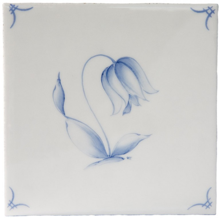 Marlborough Classic Flowers Delft Tile 5, Edinburgh Tile Studio