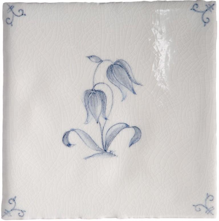 Marlborough Flower Delft Tile 2, Edinburgh Tile Studio