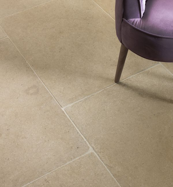 Ca' Pietra Neranjo Limestone, lightly tumbled, close up, Edinburgh Tile Studio