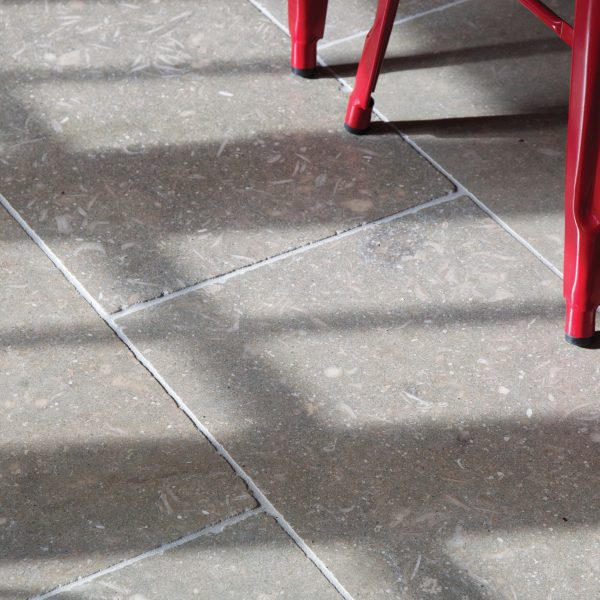 Ca' Pietra Olivier Limestone, tumbled, close up tile, Edinburgh Tile Studio