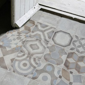 Kitchen Tiles Edinburgh marlborough sarum dove / grey patterned tiles | edinburgh tile studio