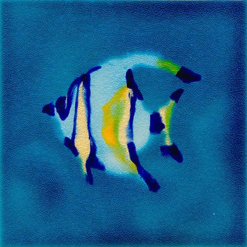Jaafar Designs Angel Fish Tile, Edinburgh Tile Studio