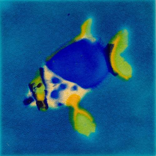Jaafar Designs Spotted  Fish Tile, Edinburgh Tile Studio